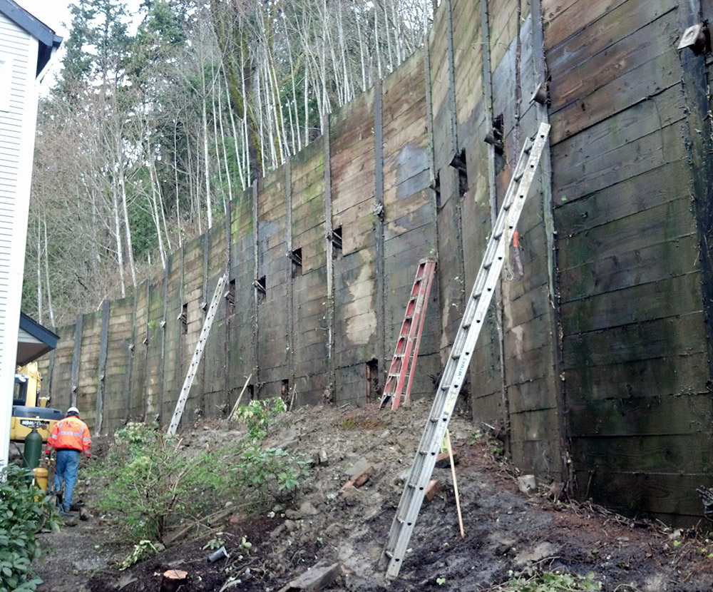 Soldier Pile Wall Failure Issaquah Wa
